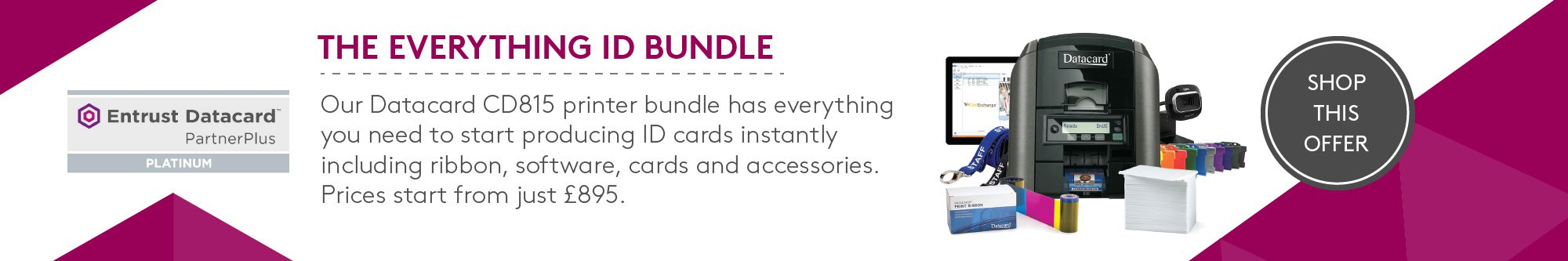 Datacard CD815 printer bundle banner