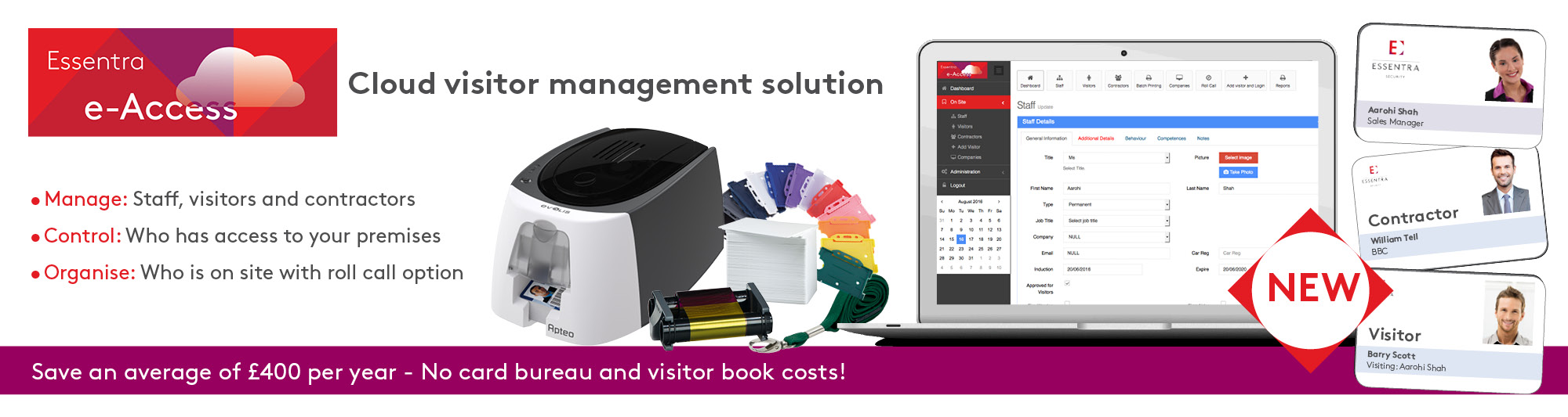 Essentra e-Access cloud visitor management solution
