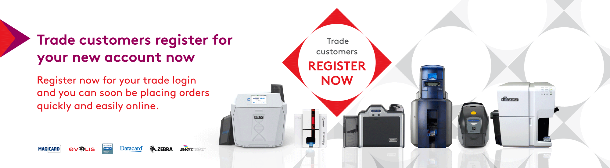 Register for trade account